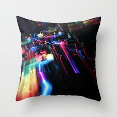Wired Rainbow Throw Pillow