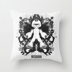 Megaman Geek Ink Blot Te… Throw Pillow