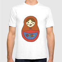 1 Matroyshka Doll Mens Fitted Tee White SMALL