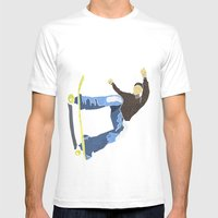 Skateboard 4 Mens Fitted Tee White SMALL