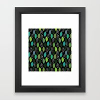 Modern Abstract Leaf Pat… Framed Art Print