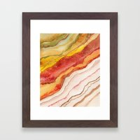 AGATE Inspired Watercolor Abstract 03 Framed Art Print