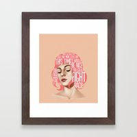Songs VII. Framed Art Print