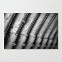 Ridges And Bolts Canvas Print