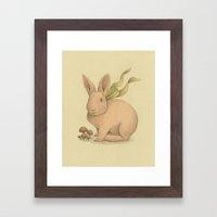 Pink Bunny Framed Art Print