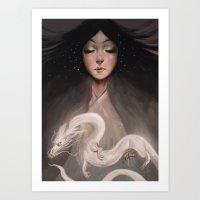 The Spirit of Tomoe Gozen II Art Print