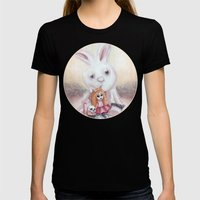 Ester and Bunny Womens Fitted Tee Black SMALL