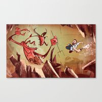 The Devil Is A Jerk Canvas Print