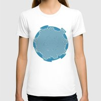 Abstract pattern Womens Fitted Tee White SMALL
