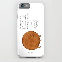 iPhone Cases featuring the spherical bear by Marc Johns