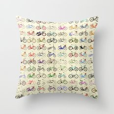 Bikes Throw Pillow