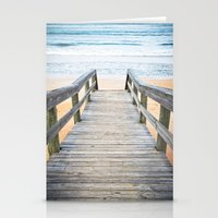 Florida Beach Walkway Stationery Cards