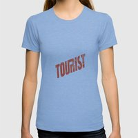 TOURIST Womens Fitted Tee Tri-Blue SMALL