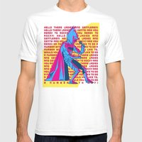 The Dark Knight Rocks (Text Version) Mens Fitted Tee White SMALL