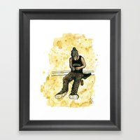 Chocolate Skater Framed Art Print