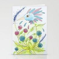 Flower-bird Stationery Cards