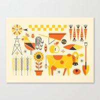 Farm Food Canvas Print