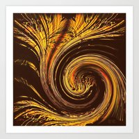 Golden Filigree Germinat… Art Print