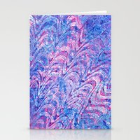 Blue Pink Curling Stationery Cards
