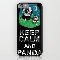 iPhone & iPod Case featuring Keep Calm and Panda by Redsun's Run