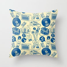 Musical Monsters Throw Pillow