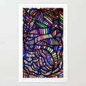 Rainbow Ribbons Art Print