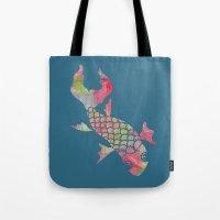 Rainbow Koi Fish Tote Bag