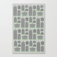 Birdcages (Gray) Canvas Print