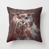 DARK OWL Throw Pillow