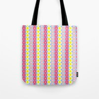 Pattern Blue & Pink Tote Bag
