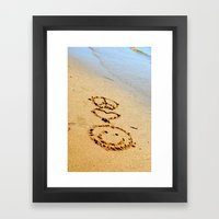 Peace Love and Happiness Framed Art Print