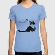 Kattitude Womens Fitted Tee Athletic Blue SMALL