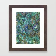 Abstract Blue & Green Framed Art Print
