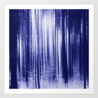 Indigo Woods Art Print
