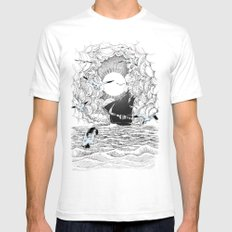 Before the Storm SMALL White Mens Fitted Tee