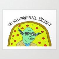 Pizza Wars: The Empire Orders Pizza Art Print