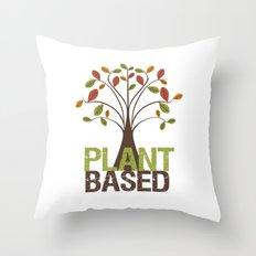 Plant Based Fall Tree Throw Pillow