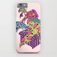iPhone & iPod Case featuring Pizza Eating Pizza - Pink Edition by Valeriya Volkova