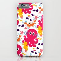 iPhone & iPod Case featuring Sea Creatures by MUSENYO