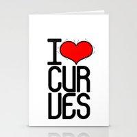 I heart curves Stationery Cards