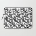 Waves All Over - Black and White Laptop Sleeve