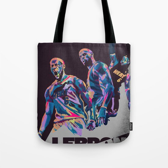 Lebron James NBA Illustration serie 3 of 3 Tote Bag
