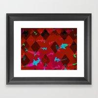 Argyle Frenzy In Ruby Framed Art Print