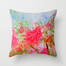 Le Jardin Coral Throw Pillow