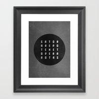 Sator Square Framed Art Print