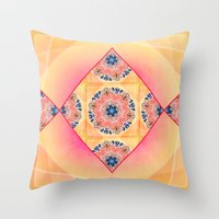 Roses in abstact Throw Pillow