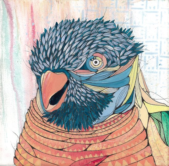 Shinsighbashi Bird Art Print