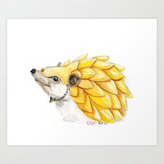 The Battle Hedgehog Art Print