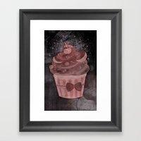 Delighted Cupcake Framed Art Print