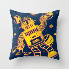 Cosmo Robot Throw Pillow